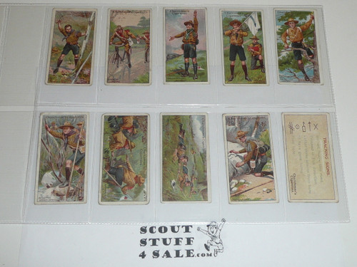 Churchman Cigarette Company Premium Card, Third (RARE) Boy Scout Series of 50 (Brown Back), COMPLETE SET, 1916