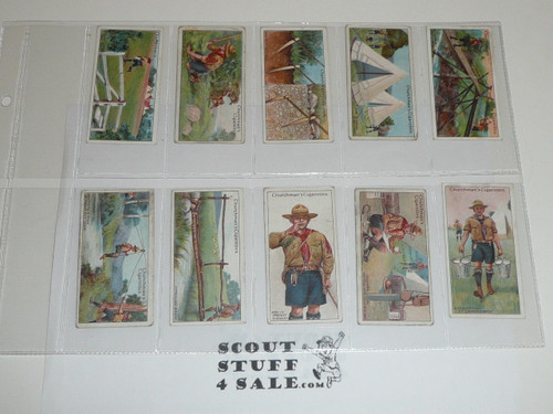 Churchman Cigarette Company Premium Card, Second (RARE) Boy Scout Series of 50, COMPLETE SET, 1916