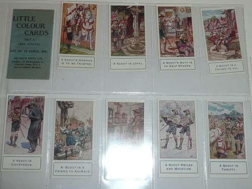Little Colour Cards Premium Card, RARE Boy Scout Series of 10, COMPLETE SET, Teens, MINT Condition with wrapper