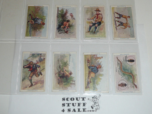 Gallaher ltd Cigarette Company Premium Card, Boy Scout Series of 100, COMPLETE Set, 1911