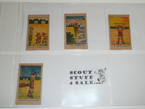 U.S. Boy Scout Series of 10, comic style trading cards, COMPLETE Set, Teens, MINT condition
