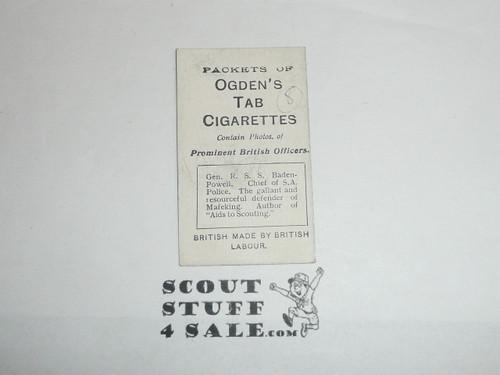 Ogden's Tab Cigarettes Premium Card, Gen. R. S. S. Baden Powell, minimal wear
