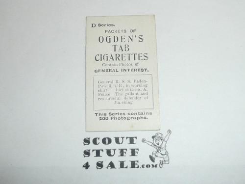 Ogden's Tab Cigarettes Premium Card D Series, Gen. Baden Powell, minimal wear
