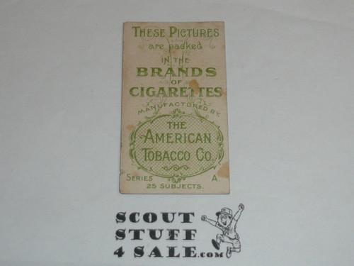 American Tobacco Brand Cigarettes Tobacco Premium Card, Col. S. S. Baden-Powell, minimal wear