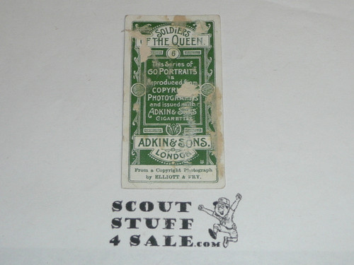 Adkin & Sons Cigarettes Tobacco Premium Card, Soldiers of the Queen series, Lt. Col. R. S. S. Baden Powell, minimal wear