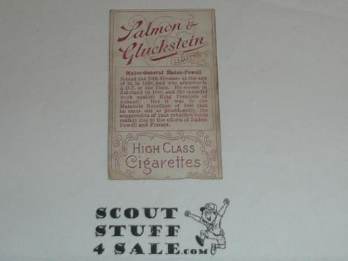 Salmon & Gluckstein Ltd Cigarette Premium Card, Heroes of the Transvaal War Series, Major-General Baden-Powell