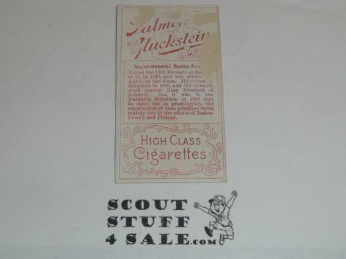 Salmon & Gluckstein Ltd Cigarette Premium Card, Heroes of the Transvaal War Series, Major-General Baden-Powell #2