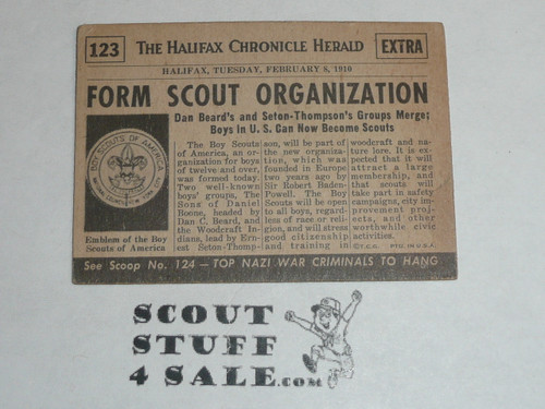 Premium Card commemorating the formation of the Boy Scouts of America