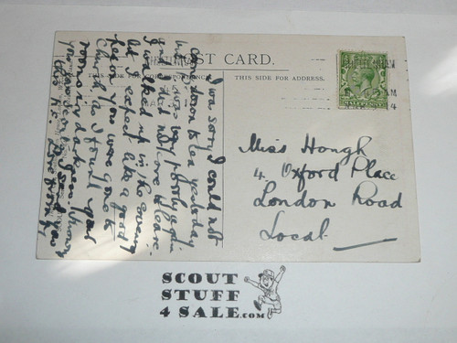 1914 British Boy Scout Postcard, Hark! - My Country Calls
