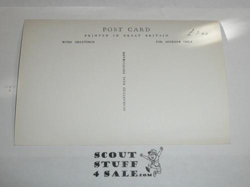 1957 World Jamboree Official Postcard of Jamboree Gateway, unused