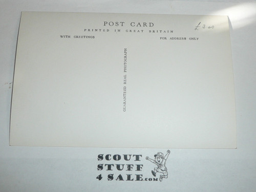1957 World Jamboree Official Postcard of Vogelenzang Sub Camp Gateway, unused