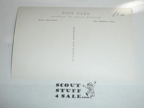 1957 World Jamboree Official Postcard of Arrowe Park Gateway, unused