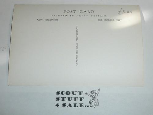 1957 World Jamboree Official Postcard of Godollo Sub Camp Gateway