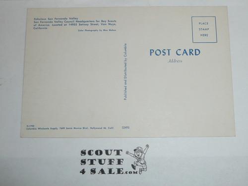 San Fernando Valley Council Boy Scouts of America 1970's Headquarters Postcard
