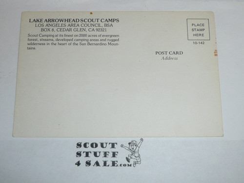 Lake Arrowhead Scout Camps Postcard, Los Angeles Area Council, 1970's