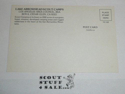 Lake Arrowhead Scout Camps Postcard, Los Angeles Area Council, 1970's #2