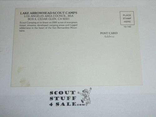 Lake Arrowhead Scout Camps Postcard, Los Angeles Area Council, 1970's #3