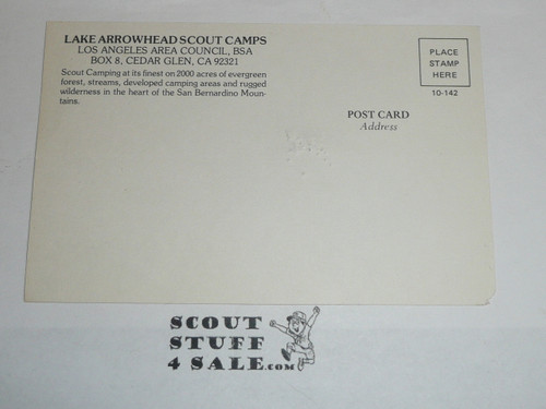 Lake Arrowhead Scout Camps Postcard, Los Angeles Area Council, 1970's #4
