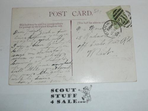 1900's British YMCA Tent Camp Postcard