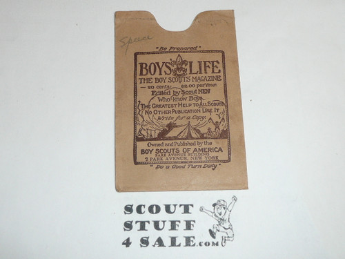 1932 Boy Scout Membership Card, 3-fold, 7 signatures, with envelope, expires June 1932, BSMC21