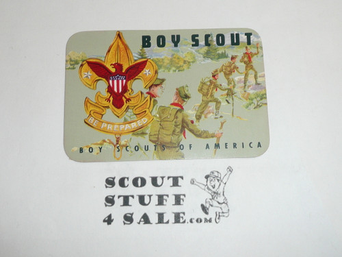 1965-1967 Boy Scout Membership Card, 2 signatures, buyer to receive a card expiring ranging from 1965-1967 of this style, BSMC74