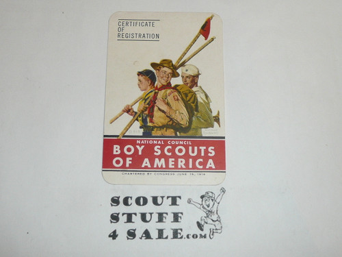 1948 Boy Scout Membership Card, 6 signatures, buyer to receive a card expiring ranging from 1948 of this style, BSMC75