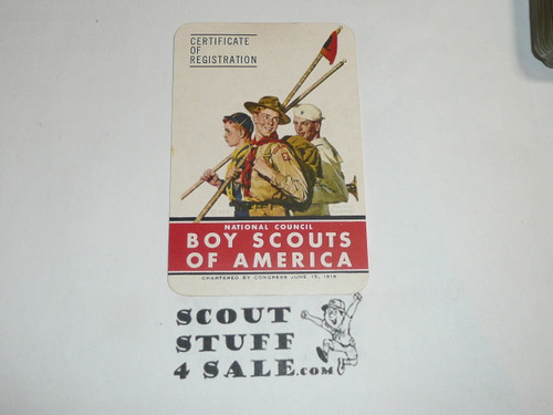 1947-1948 Cub Scout Membership Card, 6 signatures, buyer to receive a card expiring ranging from 1948-1949 of this style, BSMC76