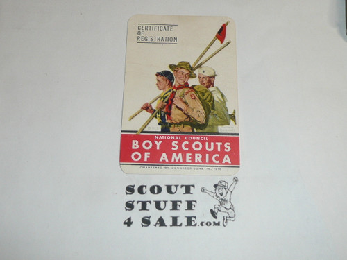 1948-1950 Cub Scout Membership Card, 6 signatures, buyer to receive a card expiring ranging from 1948-1950 of this style, BSMC79