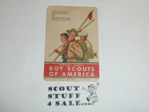 1950-1951 Cub Scout Membership Card, 7 signatures, buyer to receive a card expiring ranging from 1950-1951 of this style, BSMC80