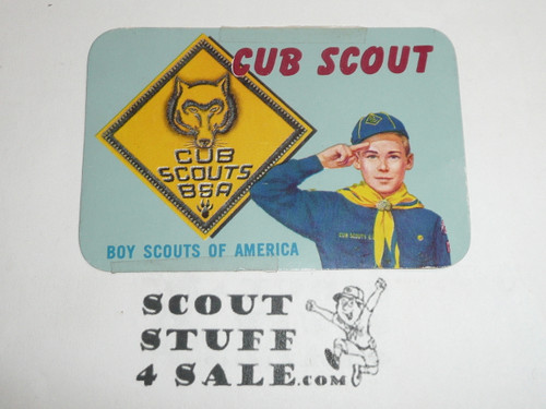 1962-1965 Cub Scout Membership Card, 2 signatures, buyer to receive a card expiring ranging from 1962-1965 of this style, BSMC87