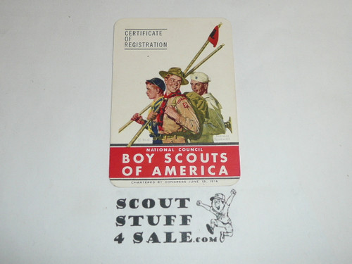 1949 Senior Scout Membership Card, 6 signatures, buyer to receive a card expiring ranging from 1949 of this style, BSMC88