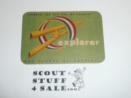 1960 Explorer Scout Membership Card, 50th Anniversary, 2 signatures, buyer to receive a card expiring ranging from 1960 of this style, BSMC94