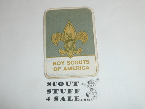 1969-1972 Boy Scout Membership Card, 2 signatures, buyer to receive a card expiring ranging from 1969-1972 of this style, BSMC95