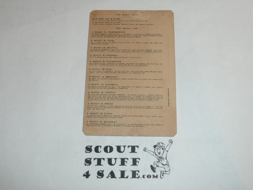1937 Sea Scout Skipper Boy Scout Leader Membership Card, 7 signatures, BSMC103