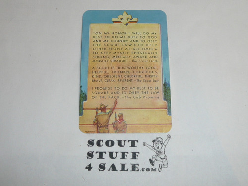1948 Boy Scout Leader Membership Card, 6 signatures, buyer to receive a card expiring ranging from 1948 of this style, BSMC106