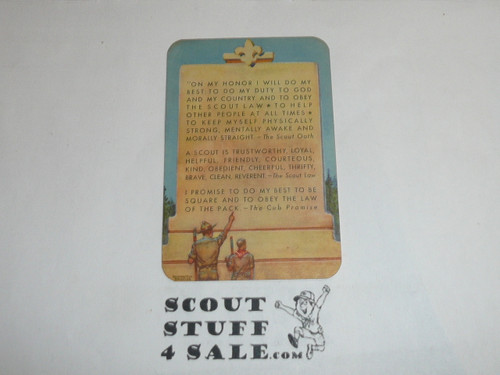 1950 Boy Scout Leader Membership Card, 7 signatures, buyer to receive a card expiring ranging from 1950 of this style, BSMC107