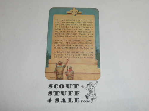 1951-1953 Boy Scout Leader Membership Card, 2 signatures, buyer to receive a card expiring ranging from 1951-1953 of this style, BSMC108