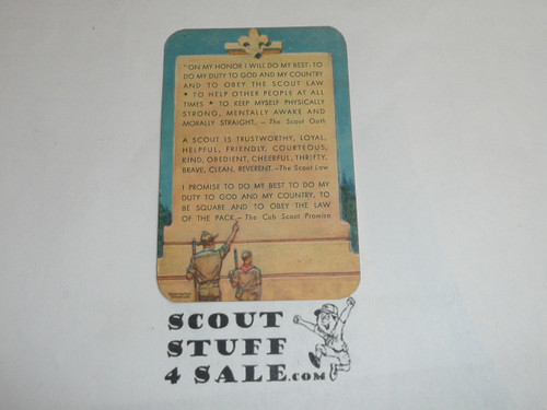 1955-1956 Boy Scout Leader Membership Card, 2 signatures, buyer to receive a card expiring ranging from 1955-1956 of this style, BSMC109