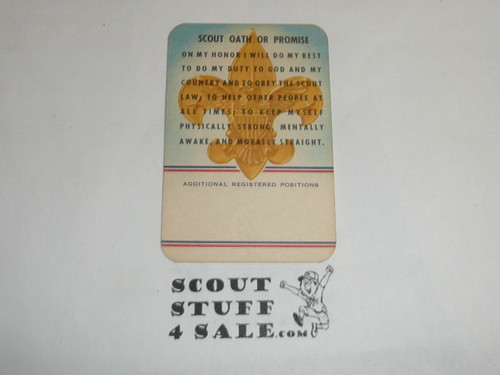 1961 Boy Scout Leader Membership Card, 2 signatures, 50th Anniversary, buyer to receive a card expiring ranging from 1961 of this style, BSMC112