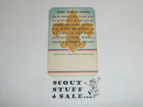 1961 Boy Scout Leader Membership Card, 2 signatures, 50th Anniversary, buyer to receive a card expiring ranging from 1961 of this style, BSMC113