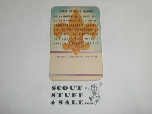 1963-1965 Boy Scout Leader Membership Card, 2 signatures, 50th Anniversary, buyer to receive a card expiring ranging from 1963-1965 of this style, BSMC114
