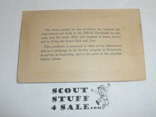 1936 Eagle Scout with Silver Palm Rank Achievement Card, Boy Scout