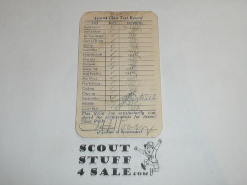 1954 Tenderfoot Scout Rank Achievement Card, Los Angeles Area Council, Boy Scout