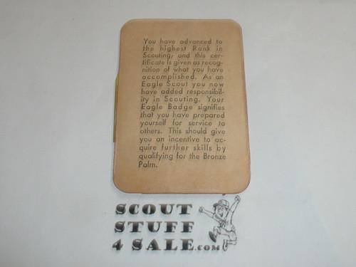 1952 Eagle Scout Rank Achievement Card, Boy Scout