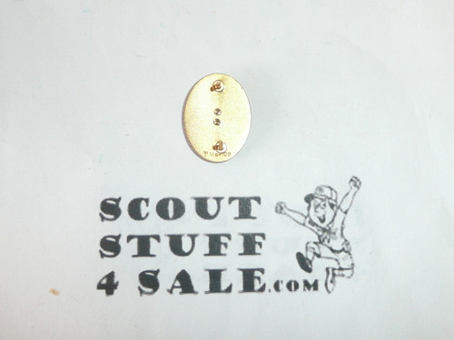 Distinguished Eagle Scout Award Lapel Pin, 10k GOLD with Robbins Hallmark, double post back, Early variety