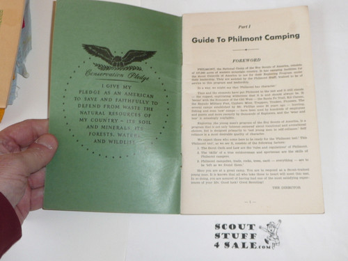 1950's Philmont Guidebook of information, Boy Scouts of America