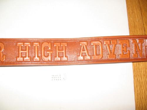 """Northern Tier High Adventure Base, Tooled Leather Belt, 32"""" waist, Unused"""