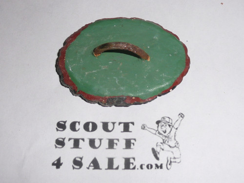 Philmont Scout Ranch EARLY Plaster Neckerchief Slide, Buffalo Side View