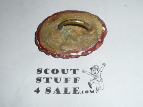 Philmont Scout Ranch EARLY Plaster Neckerchief Slide, Buffalo Side View #2
