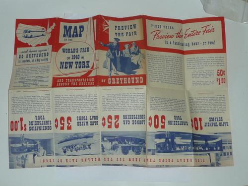 1940 New York World's Fair Map